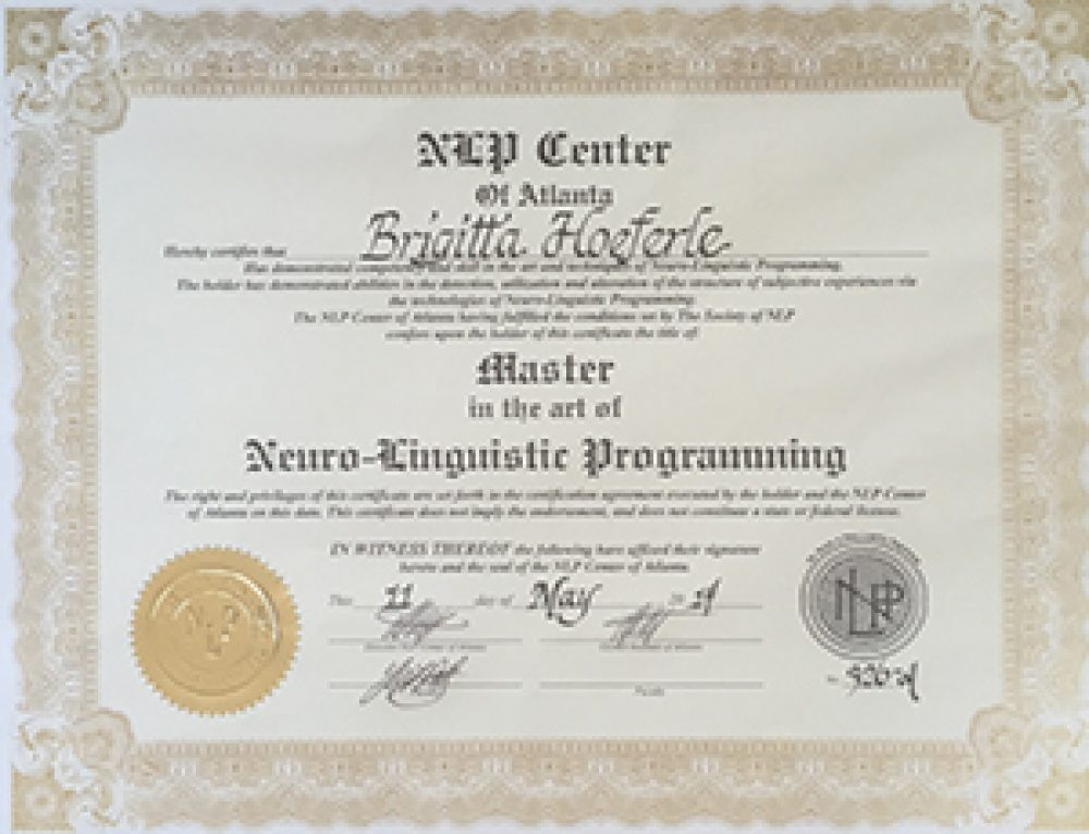 Neuro-Linguistic Programming Master